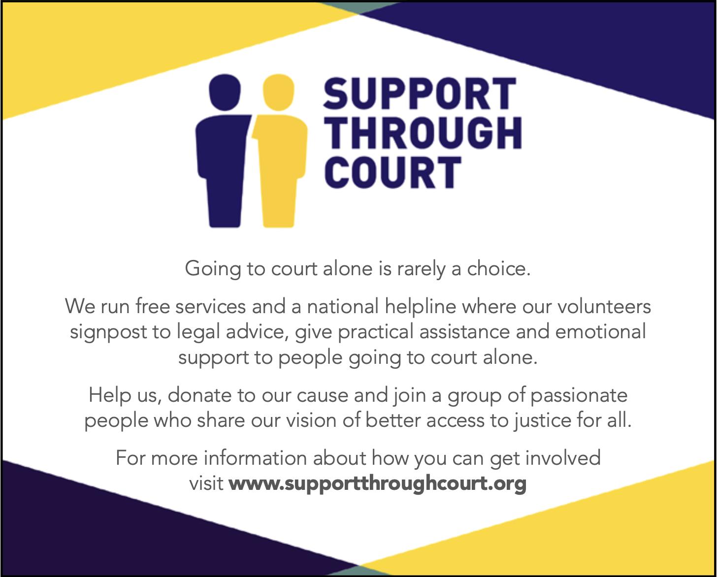Support through court