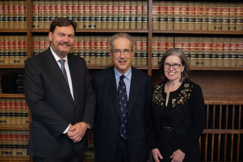 Bench Call at Osgoode Hall. From left to right – Masters Richard Wagner, David Bean and Sheila Block