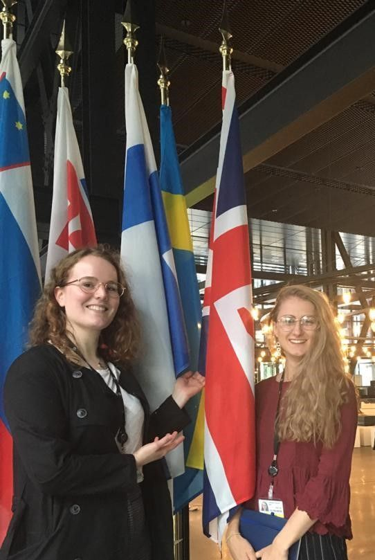 Flora Curtis, Trainee at the EFTA Court and a member of Lincoln's Inn, and Georgie Rea, at the ECJ
