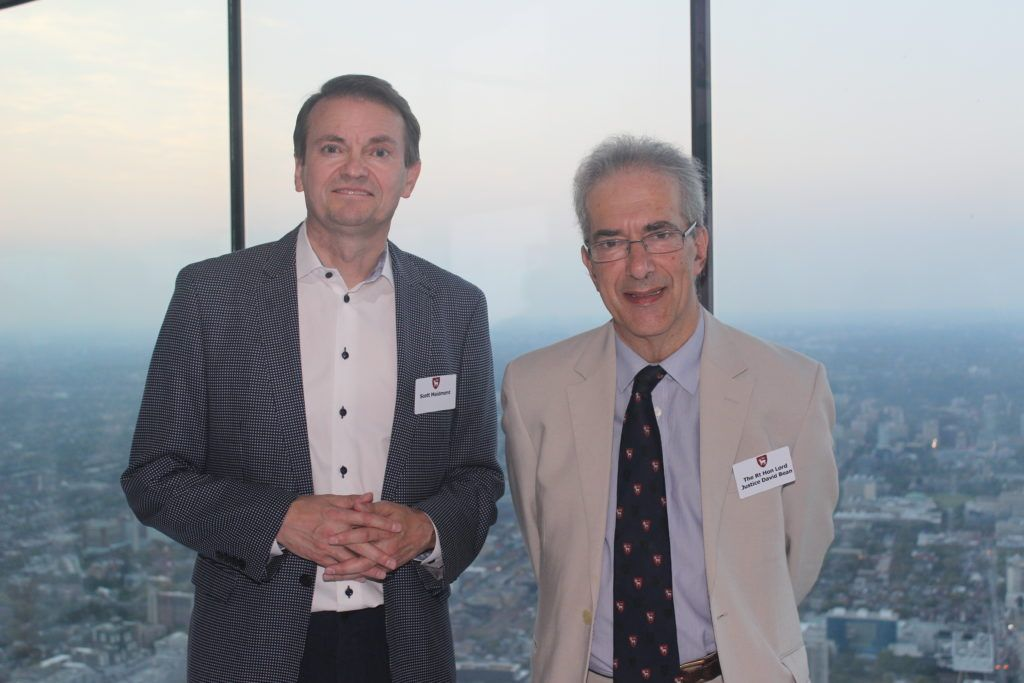 Scott Maidment and Master David Bean at The Advocates' Society during the Amity Visit to Canada