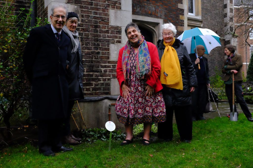 From left to right: Master Judith Parker, Master David Bean (2019 Treasurer), Master Rosalind Wright, Master Carol Harlow, Dr David Wright and Kate Jenrick