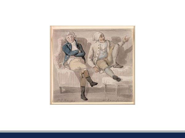 An 18th Century watercolour of Mr Noel Desenfans
