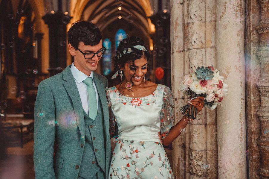 Dafydd Taylor and Nirosha Sithirapathy married on Wednesday 9 September 2020 (© Katie Radford, KEM Radford Photography)