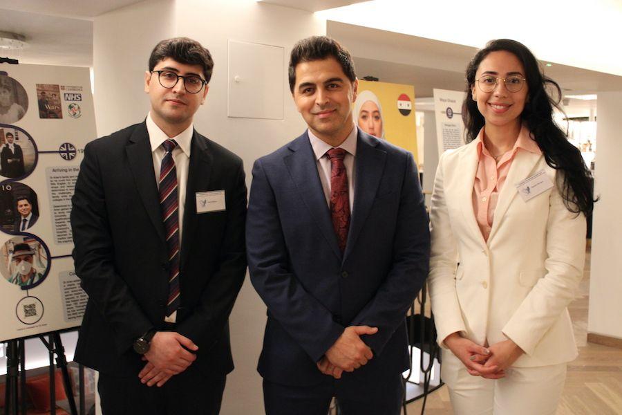 Dara Bahour, Dr Waheed Arian and Camila Ferraro