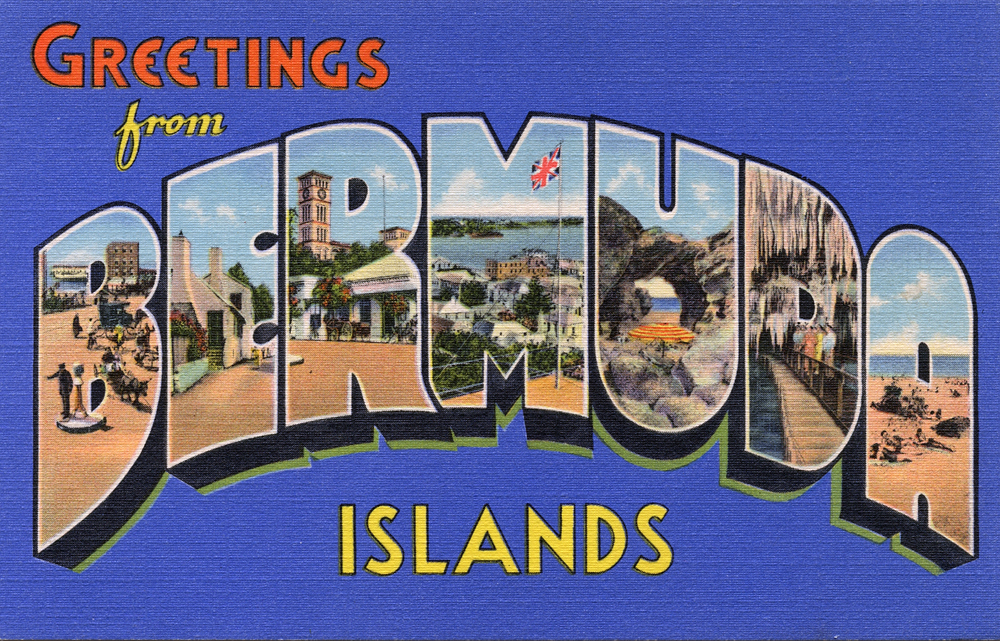 A postcard from Bermuda and the Cayman Islands