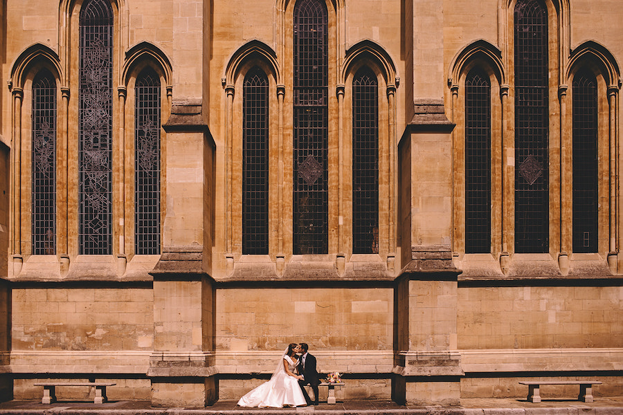 Olivia Shaw and Giles Newton married on Friday 17 July 2020 (© Carrie Lavers Photography)
