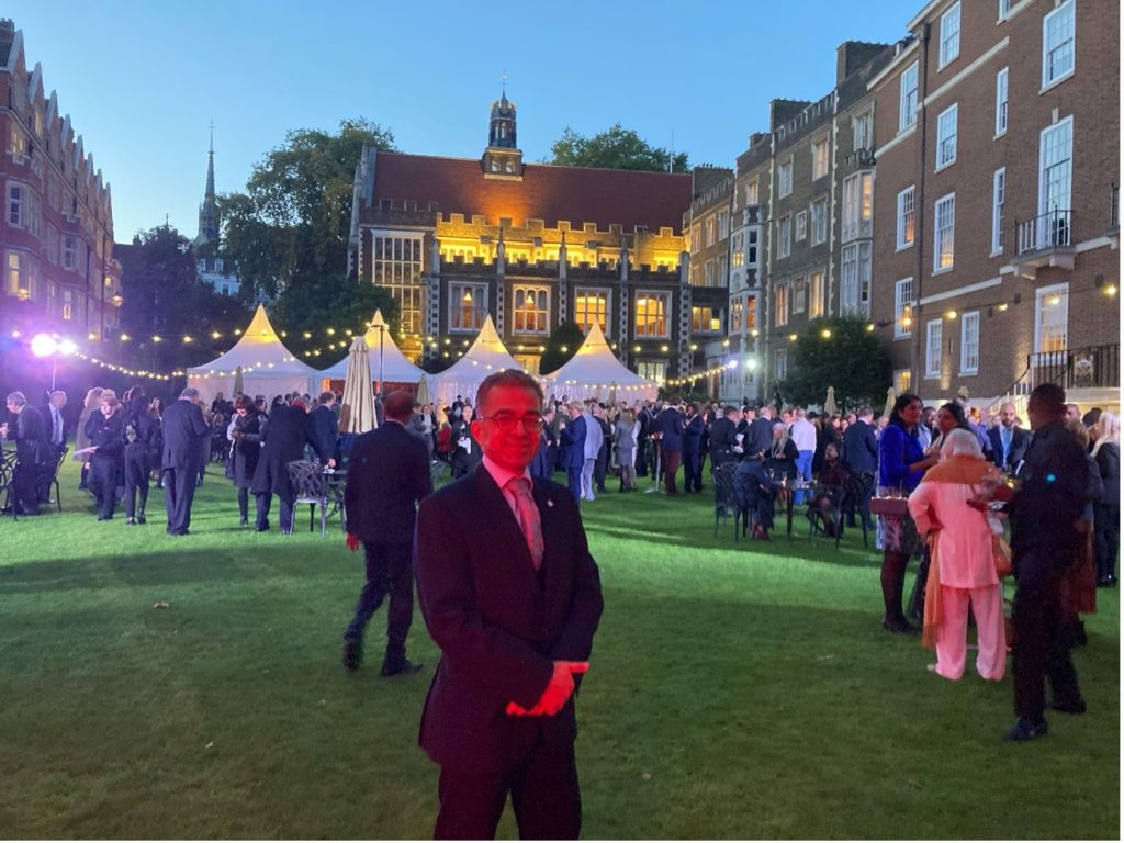 Mark Pacheco at the Garden Party © Master Treasurer, Andrew Hochhauser QC!