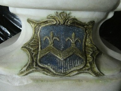 The Coat of Arms before treatment